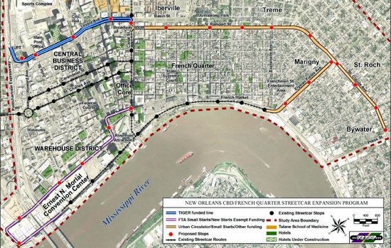 Streetcar In New Orleans Map.Streetcar Plans Draw Sharp Criticism From Council Uptown Messenger