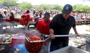 John Michel of Mr. Mudbug boils crawfish at Crawfest 2011 at Tulane University. (UptownMessenger.com file photo by Sabree Hill)