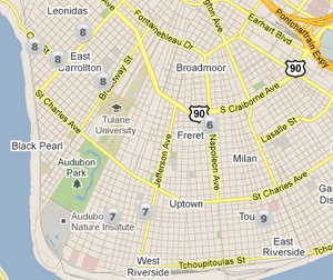 Uptown New Orleans Map Amelia – Uptown Messenger