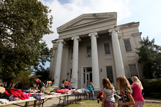 The old Carrollton courthouse, photographed during an Audubon Charter School event in 2012. (UptownMessenger.com file)