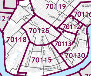 Jefferson Parish Zip Code Map.Encore Academy Considers Creating Uptown Based Admissions District