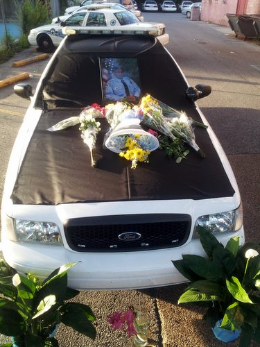 Police Grieve For Fallen Officer Through Symbols Tributes And