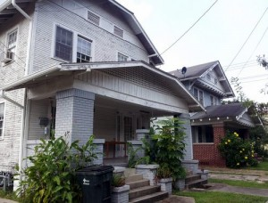The two homes in the 7300 block of Jeanette. (Robert Morris, UptownMessenger.com)