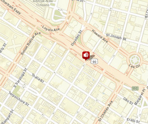 Stabbing reported at Calliope and Baronne on Thursday. Incident at Calliope and O.C. Haley not yet online. (map via NOPD)
