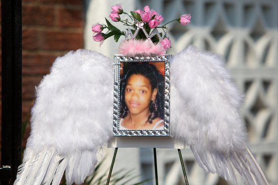A photo of Arabian Gayles surrounded by angel wings. (Sabree Hill, UptownMessenger.com)