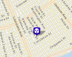 Map provided via NOPD CrimeMapping