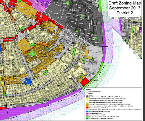 Zoning Map New Orleans Major developments to receive additional design scrutiny under new