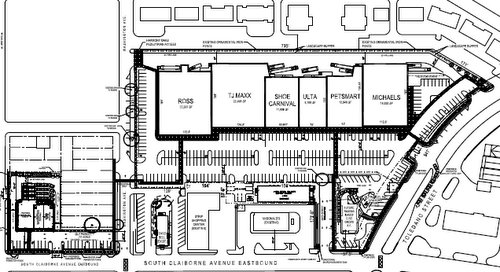 Magnolia Marketplace site layout (via City of New Orleans)