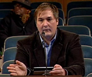 Drew Ward asks the New Orleans City Council to ban smoking during Mardi Gras parades on Jan. 24, 2014. (via nolacitycouncil.com)