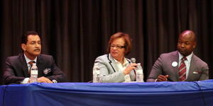Freddie Charbonnet, Cynthia Hedge-Morrell and Jason Williams. (Robert Morris, UptownMessenger.com)