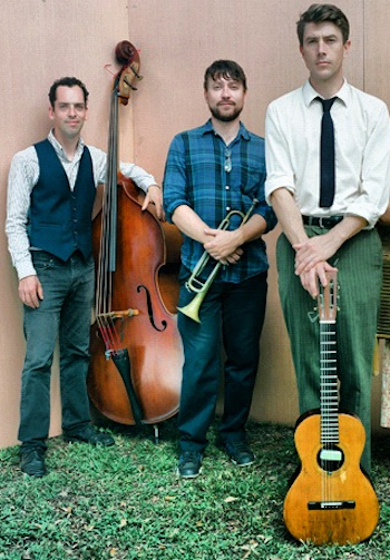 Ben Polcer (left), Cassidy Holden (center) and Luke Winslow King (right) will perform at The Norwegian Church on Sunday, March 2. (via Luke Winslow King Music)