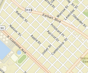 The 8600 block of Belfast. (map via NOPD)