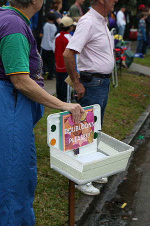 Doubloons please!! Krewe of Carrollton 2014. (Zach Brien, UptownMessenger.com)