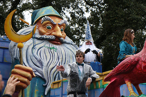The Merlin the Magician and Morgan le Fav float. Krewe of King Arthur 2014. (Zach Brien, UptownMessenger.com)