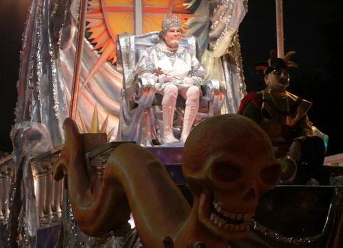 The Chaos king's float. (Robert Morris, UptownMessenger.com)