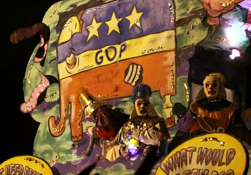 "The Krewe d'Etat ""Zombie"" float. (Robert Morris, UptownMessenger.com)"