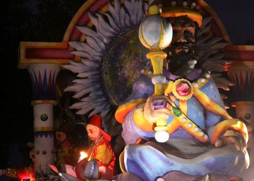 "The Hermes ""Great Mogul"" float. (Robert Morris, UptownMessenger.com)"