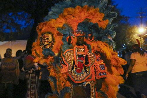 Wild Man of the Golden Eagles on St. Joseph's Night. (Zach Brien, UptownMessenger.com)