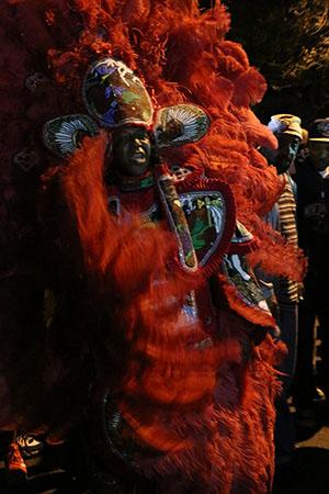 Big Chief of the Golden Blades on St. Joseph's Night. (Zach Brien, UptownMessenger.com)