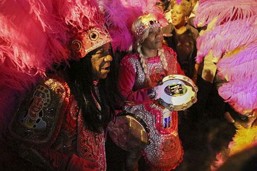 Big Chief Monk Boudreaux of the Golden Eagle son St. Joseph's Night. (Zach Brien, UptownMessenger.com)