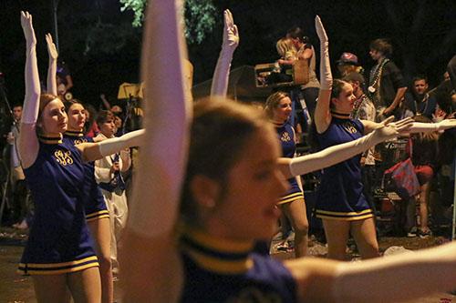 St. Pauls' high school's dancers in Bacchus 2014. (Zach Brien, UptownMessenger.com)