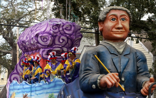 "The Okeanos ""President's Day"" float. (Robert Morris, UptownMessenger.com)"
