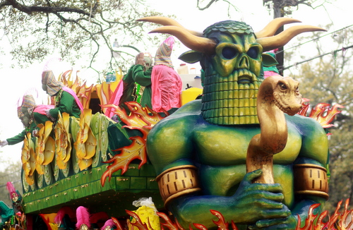 "The Rex ""Baal"" float. (Robert Morris, UptownMessenger.com)"