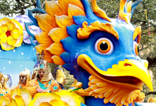 "The Rex ""Garuda"" float. (Robert Morris, UptownMessenger.com)"