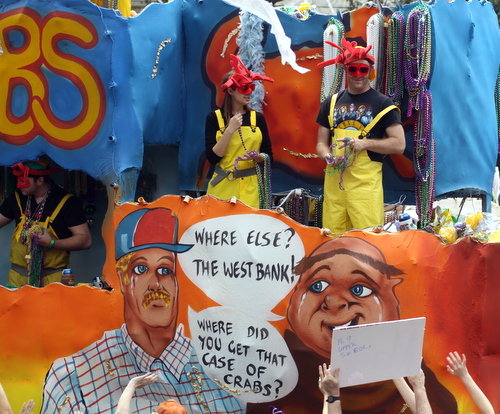 "The Tucks ""Catching Crabs"" float. (Robert Morris, UptownMessenger.com)"
