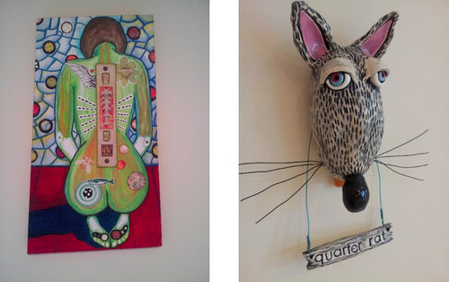 """Angel"" by Jodie Flowers and Tim Ferguson (left) and ""Quarter Rat"" by Jodie Flowers. (submitted photos)"
