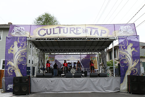 "The Abita ""Culture on Tap"" stage was one of four stages at the Freret St. Festival. (Zach Brien, UptownMessenger.com)"