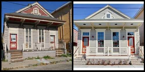 Before and after photos of 1800 Martin Luther King Boulevard.