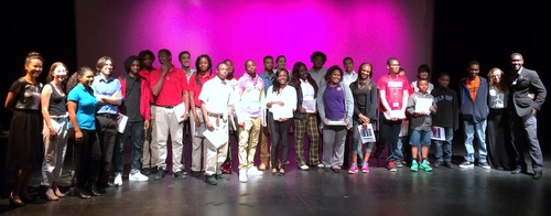 Participants in the program after their presentations. (photo by jewel bush for UptownMessenger.com)