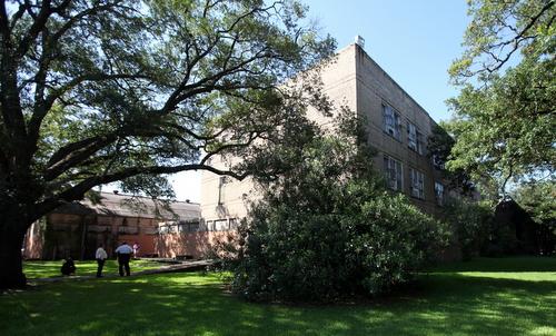 The Priestley campus fills an entire city block off Leonidas Street. (Robert Morris, UptownMessenger.com)