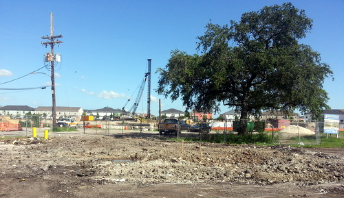 The former site of the Subway at the corner of South Claiborne and Toledano is now a vacant lot awaiting the construction of a Raising Cane's. (Robert Morris, UptownMessenger.com)