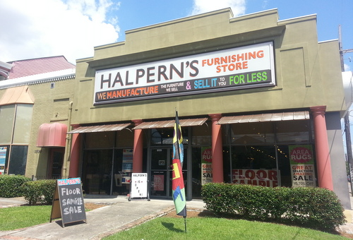 Halpern's Furnishing Store on St. Charles Avenue, photographed in June. (Robert Morris, UptownMessenger.com)