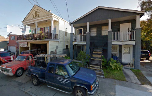 The two houses involved in Wednesday night's fire as they appeared in December 2013. (via Google maps street view)