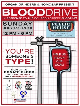 Blood drive flyer 0726