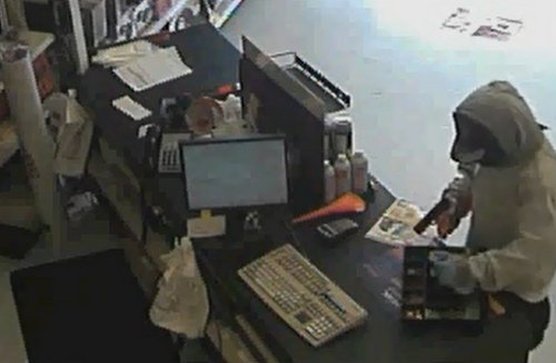 Still image from the robbery video (via NOPD)