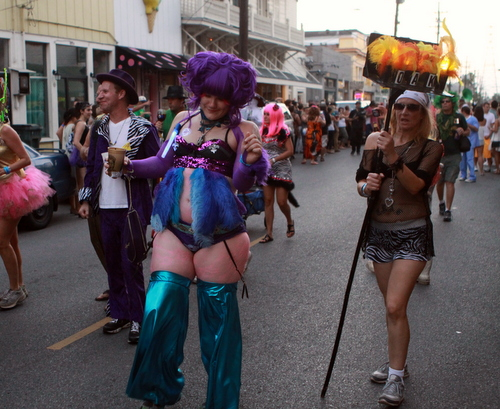 Scenes from the Krewe of Oak parade Saturday. (Robert Morris, UptownMessenger.com)