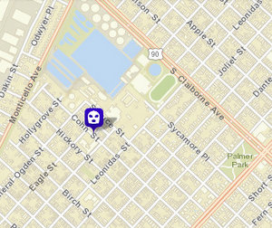 Robbery reported on Cohn Street on Saturday afternoon. (map via NOPD)