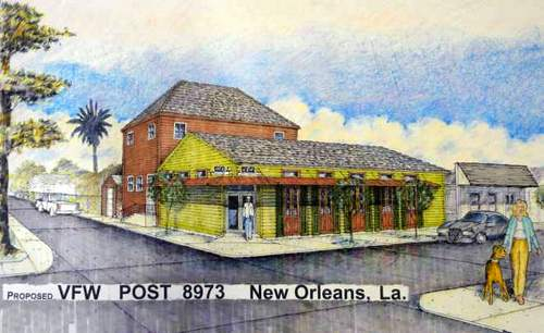 An architect's sketch of the renovations planned for the VFW post on Lyons Street. (submitted image)