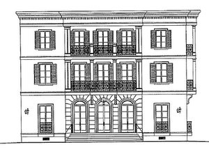 An architect's sketch by Albert Architecture of a condo building proposed for the corner of St. Charles Avenue and Fern Street. (via nola.gov)