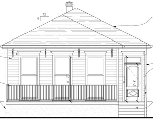 Plans for one of the Saratoga houses (via Pentek Homes)