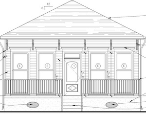 Plans for the other Saratoga House (via Pentek Homes)