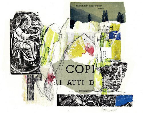 Postcard from Civita by Don Fels. (via Du Mois Gallery)