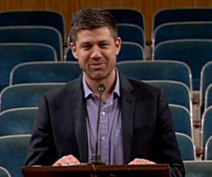 Restaurateur Sean Josephs speaks to the City Planning Commission on Dec. 9, 2014. (via nolacitycouncil.com)