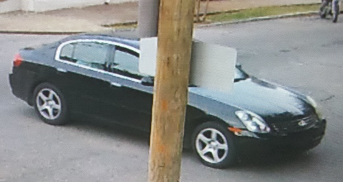A car seen near a shooting in the 2500 block of Dryades Street. (via NOPD)