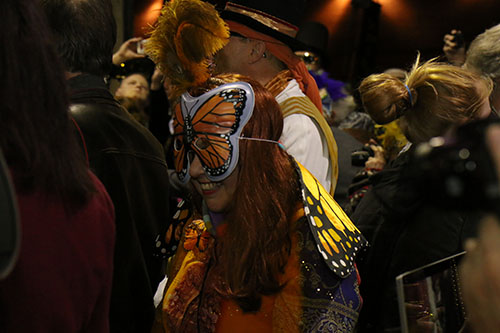 Carnival season is the time of year for masked revelry. (Zach Brien, UptownMessenger.com)