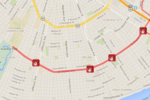 Map Of St Charles Ave New Orleans Rock 'n' Roll Marathon returns to St. Charles Avenue on Sunday